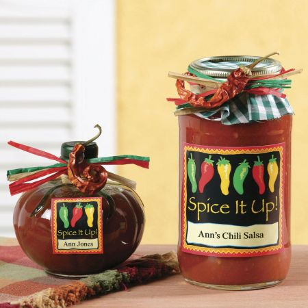Chili Peppers Canning Labels | Colorful