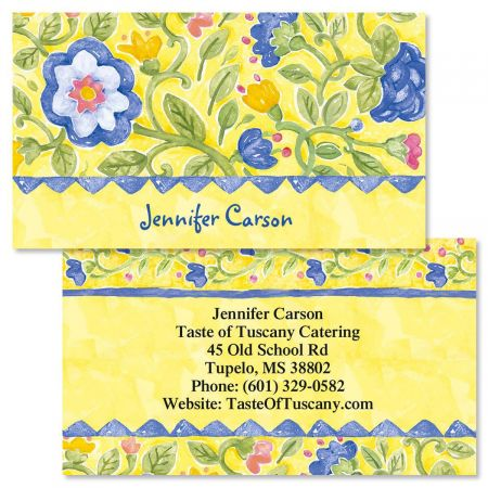 Tuscan Sun Double-Sided Business Cards