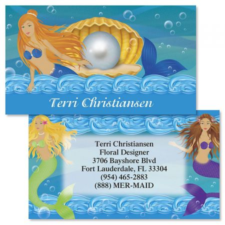 Mermaids  Double-Sided  Business Cards
