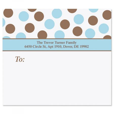Blue Polka Dots Package Labels