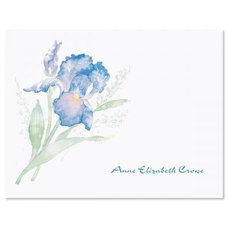 Iris Custom Note Cards
