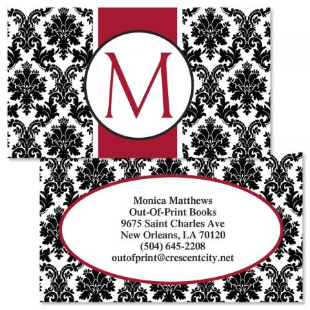 Alexandria Initial  Double-Sided  Business Cards