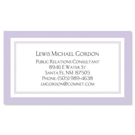 Luxe Lavender Business Cards