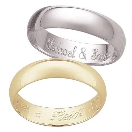 Sterling Silver  Engraved Message Ring