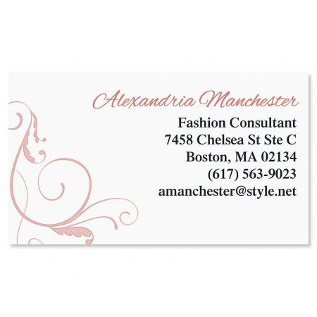 Pink Swirl Business Cards