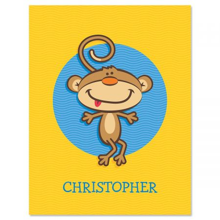 Monkey  Custom Note Cards