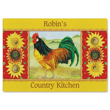 Country Kitchen Custom Glass Cutting Board