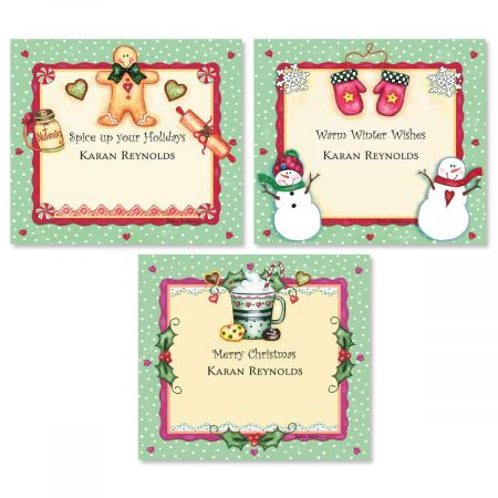 Christmas Spice  Personalized  Goodie Labels  (3 Designs)