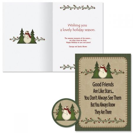 Good Friends Christmas Cards -  Personalized