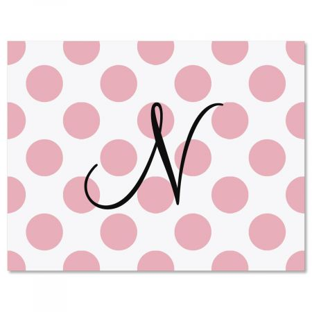 Dots Initial  Custom Note Cards