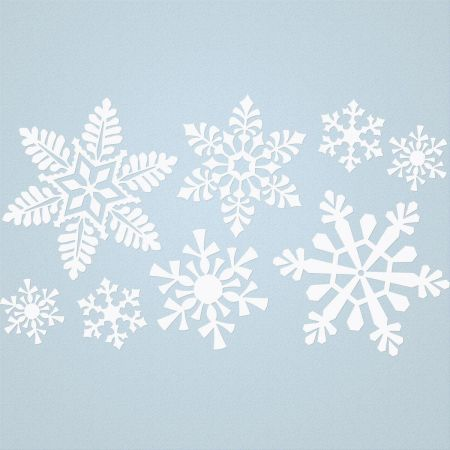 Snowflakes Vinyl Wall Accent