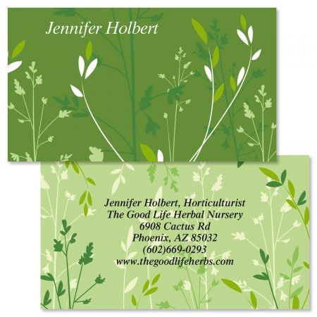 Organic Double-Sided Business Cards