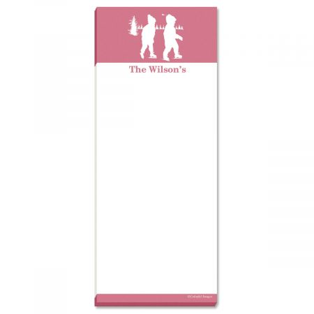 My Silhouette Personalized Memo Pads-Pink-476755A