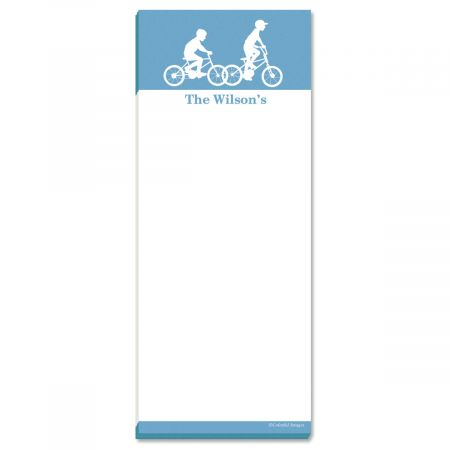 My Silhouette Personalized Memo Pads-Blue-476755B