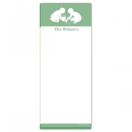My Silhouette Personalized Memo Pads-Green-476755D