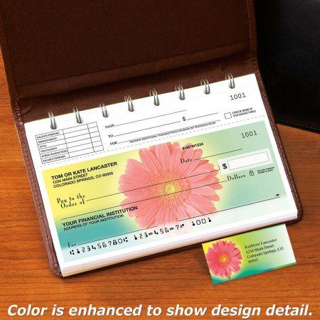 Illuminated Petals Top-Stub Personal Checks