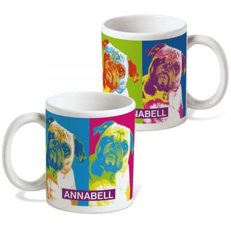 Pop Art Puppies Personalized Mug