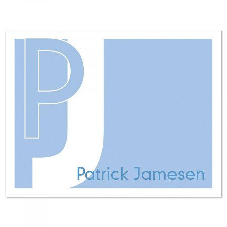 Metro Personalized Note Cards - Set of 12