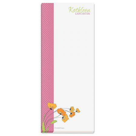 Wild Poppies Memo Pads  (3 colors)