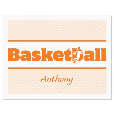 Sports Personalized Note Cards-Basketball-477235E