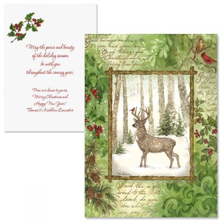 Christmas Pine  Note Card Size   Christmas Cards