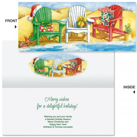 Water's Edge Slimline Holiday Cards