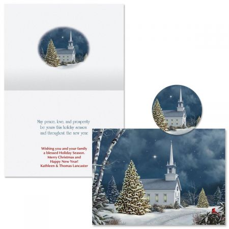 Christmas Church Christmas Cards -  Personalized