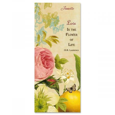 Nature's Flora Personalized Slimline Note Cards