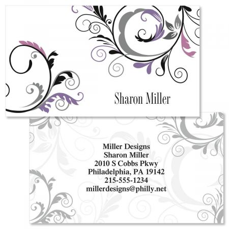 Black and Grey Fantasy Double-Sided  Business Cards