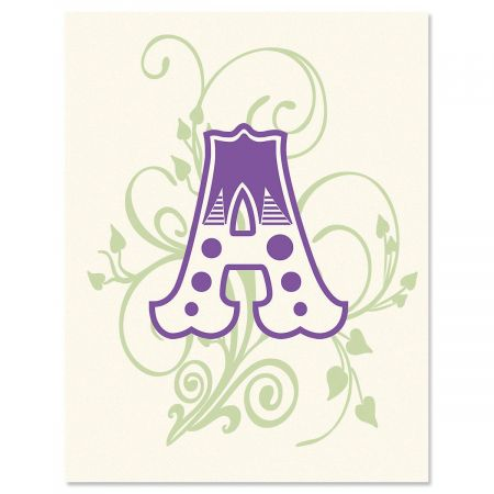 Deluxe Letters Personalized Note Cards