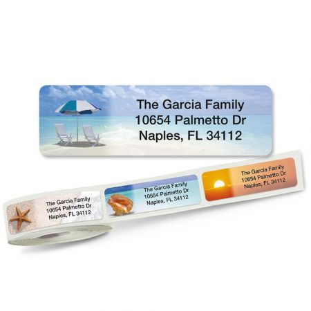 Calm Seas Rolled Address Labels  (5 Designs)