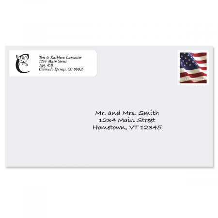 Formal Initial Rolled Return Address Labels