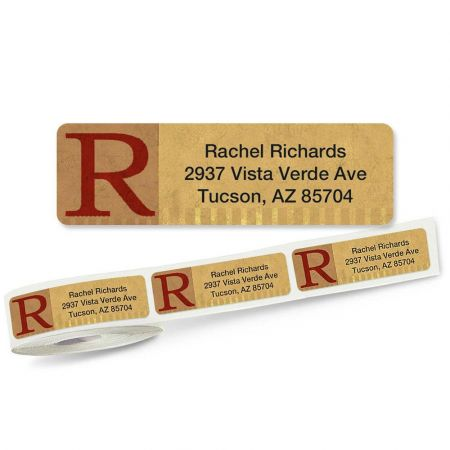 Qwerties Initial Rolled Return Address Labels
