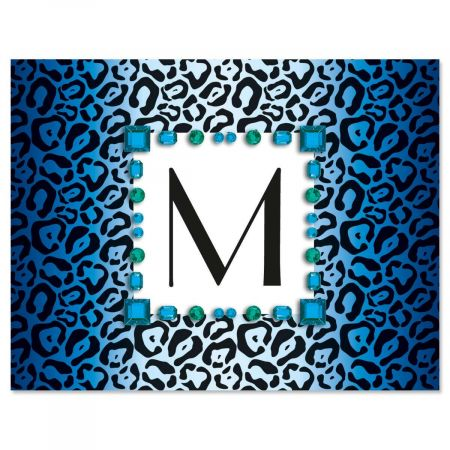 Exotic Initial Custom Note Cards