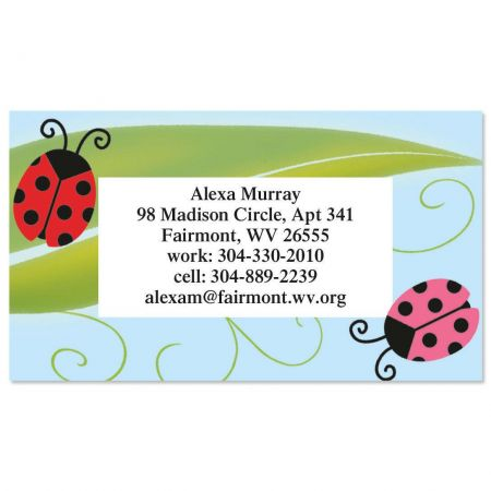 Ladybug Party Business Cards