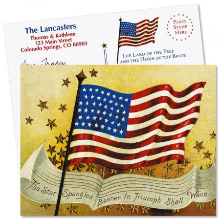 Patriotic Flag  Postcards