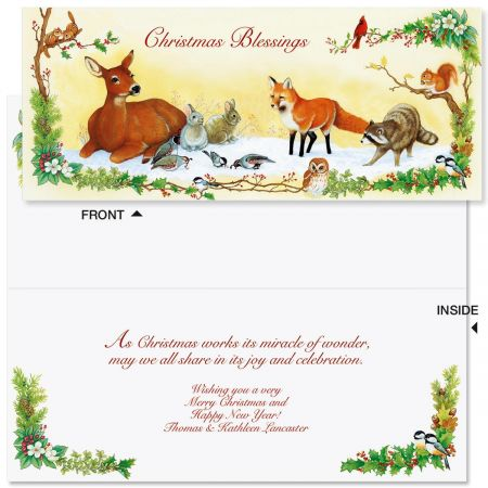 Winter Forest Slimline Holiday Cards
