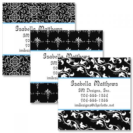 Black Elegance Square Business Cards  (3 Designs)