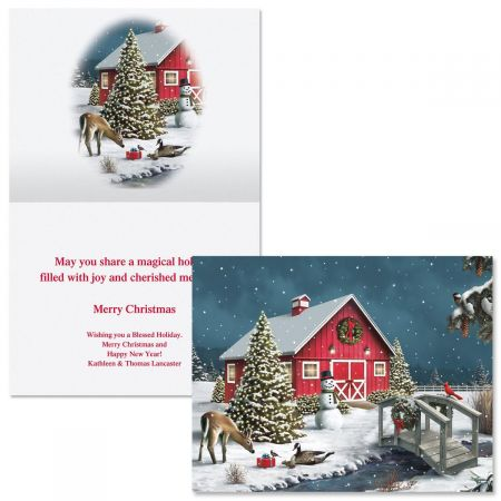 Nature's Gift  Note Card Size Christmas Cards