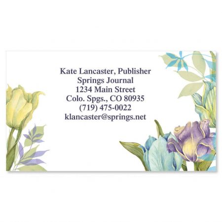 Tulip Frame Business Cards