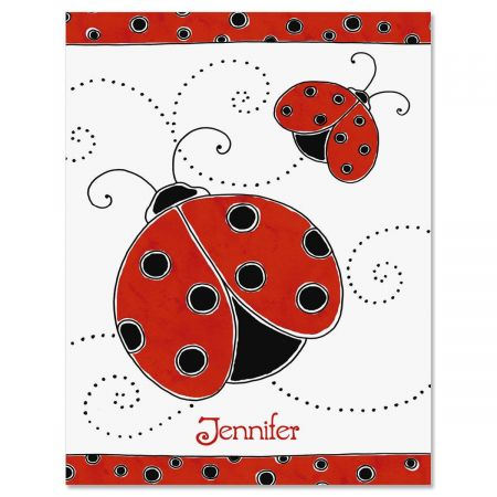 Ladybug Finish Personalized Note Cards