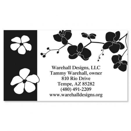 Onyx Blossom Business Cards