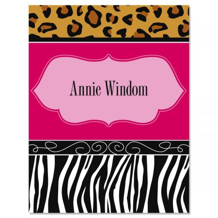 Chic Print Custom Note Cards