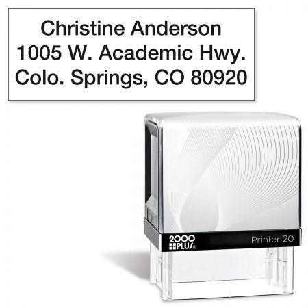 Mini Self-Inking Address Stamper