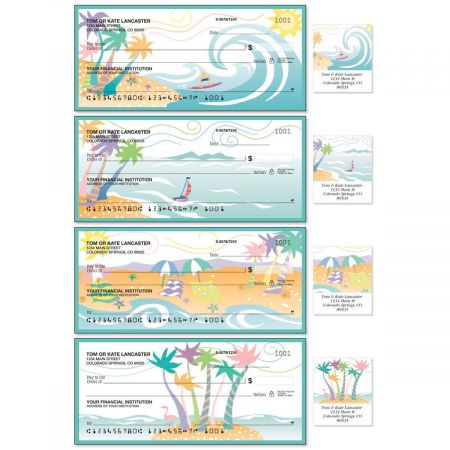 Tropical Moods Single Checks With Matching Address Labels