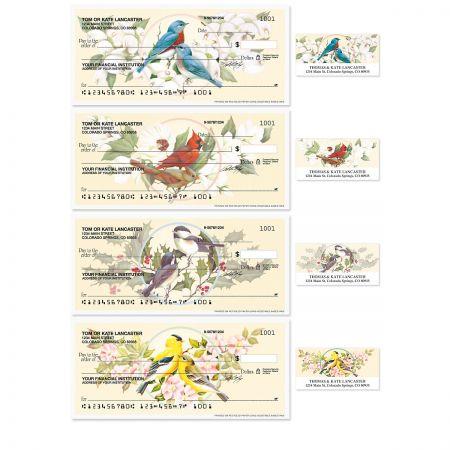 Birds & Blossoms Personal Checks