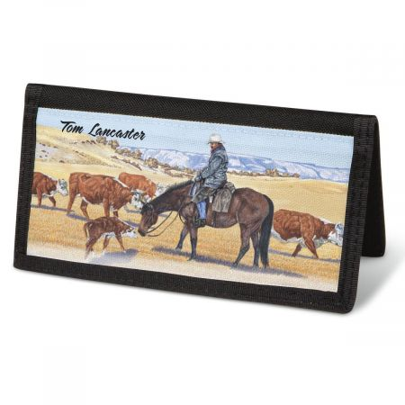 Cowboy  Checkbook Cover - Personalized