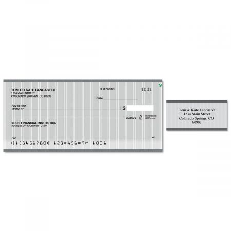 Pinstripe Duplicate Checks With Matching Address Labels