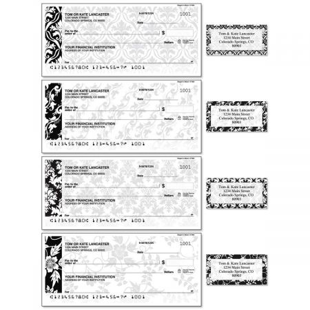 Elegant in Black Duplicate Checks With Matching Address Labels