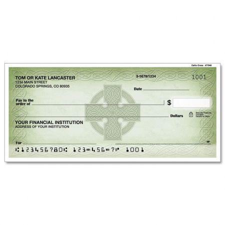 Celtic Cross Personal Checks